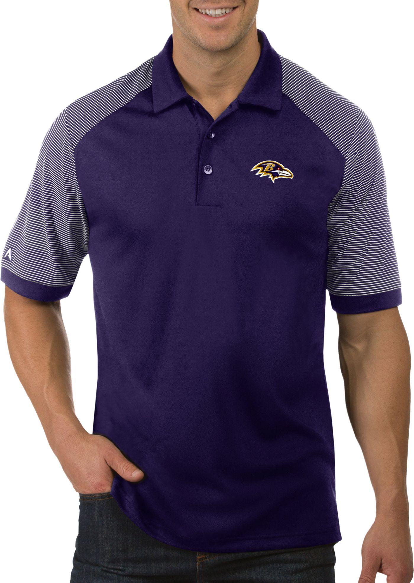 Antigua Men's Baltimore Ravens Engage Purple Performance Polo