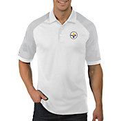 Antigua Men's Pittsburgh Steelers Engage White Performance Polo