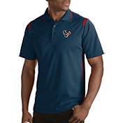 Antigua Men's Houston Texans Merit Navy Xtra-Lite Polo