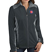 Antigua Women's Chicago Cubs Revolve Grey Full-Zip Jacket
