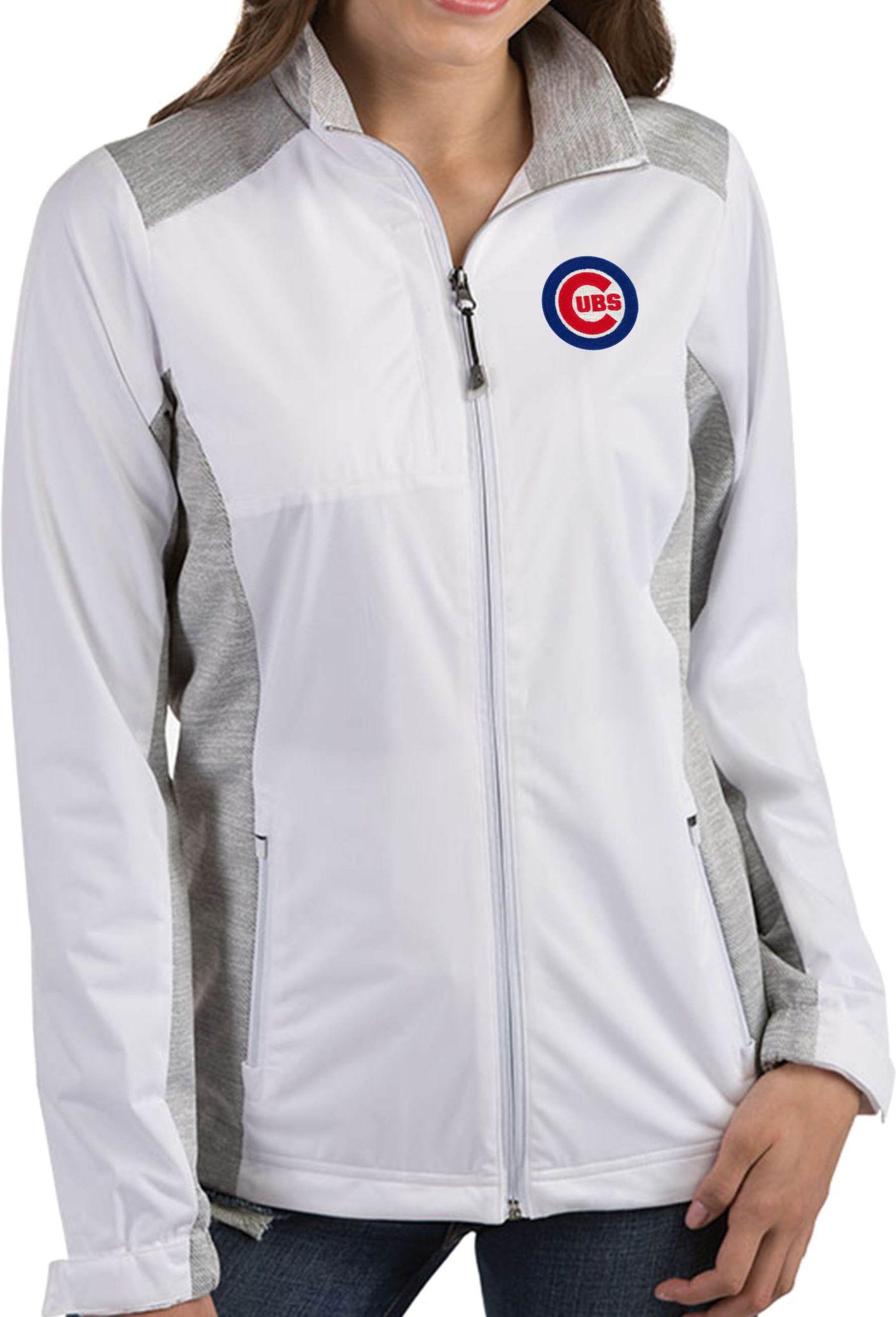 Antigua Women's Chicago Cubs Revolve White Full-Zip Jacket