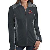 Antigua Women's St. Louis Cardinals Revolve Grey Full-Zip Jacket