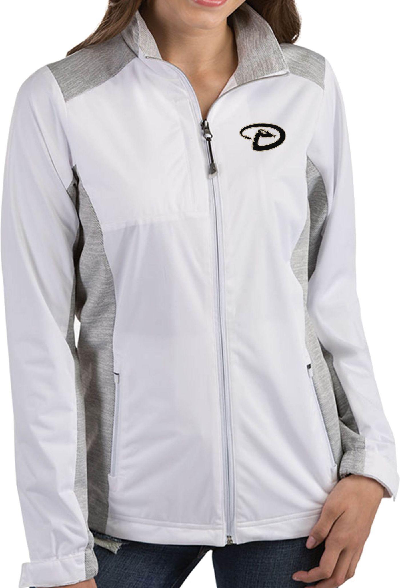 Antigua Women's Arizona Diamondbacks Revolve White Full-Zip Jacket