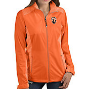 Antigua Women's San Francisco Giants Revolve Orange Full-Zip Jacket