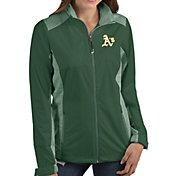 Antigua Women's Oakland Athletics Revolve Green Full-Zip Jacket