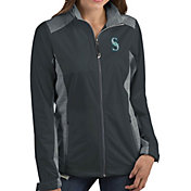Antigua Women's Seattle Mariners Revolve Grey Full-Zip Jacket