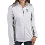 Antigua Women's Seattle Mariners Revolve White Full-Zip Jacket