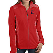 Antigua Women's Cleveland Indians Revolve Red Full-Zip Jacket