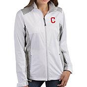 Antigua Women's Cleveland Indians Revolve White Full-Zip Jacket