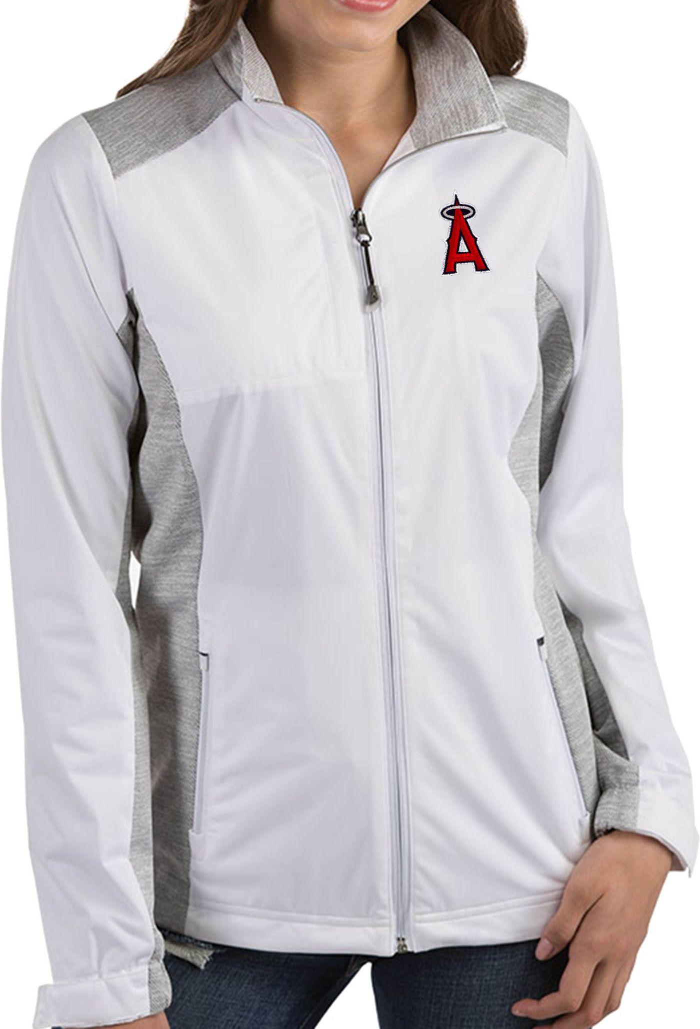 Antigua Women's Los Angeles Angels Revolve White Full-Zip Jacket