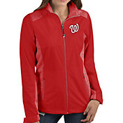 Antigua Women's Washington Nationals Revolve Red Full-Zip Jacket