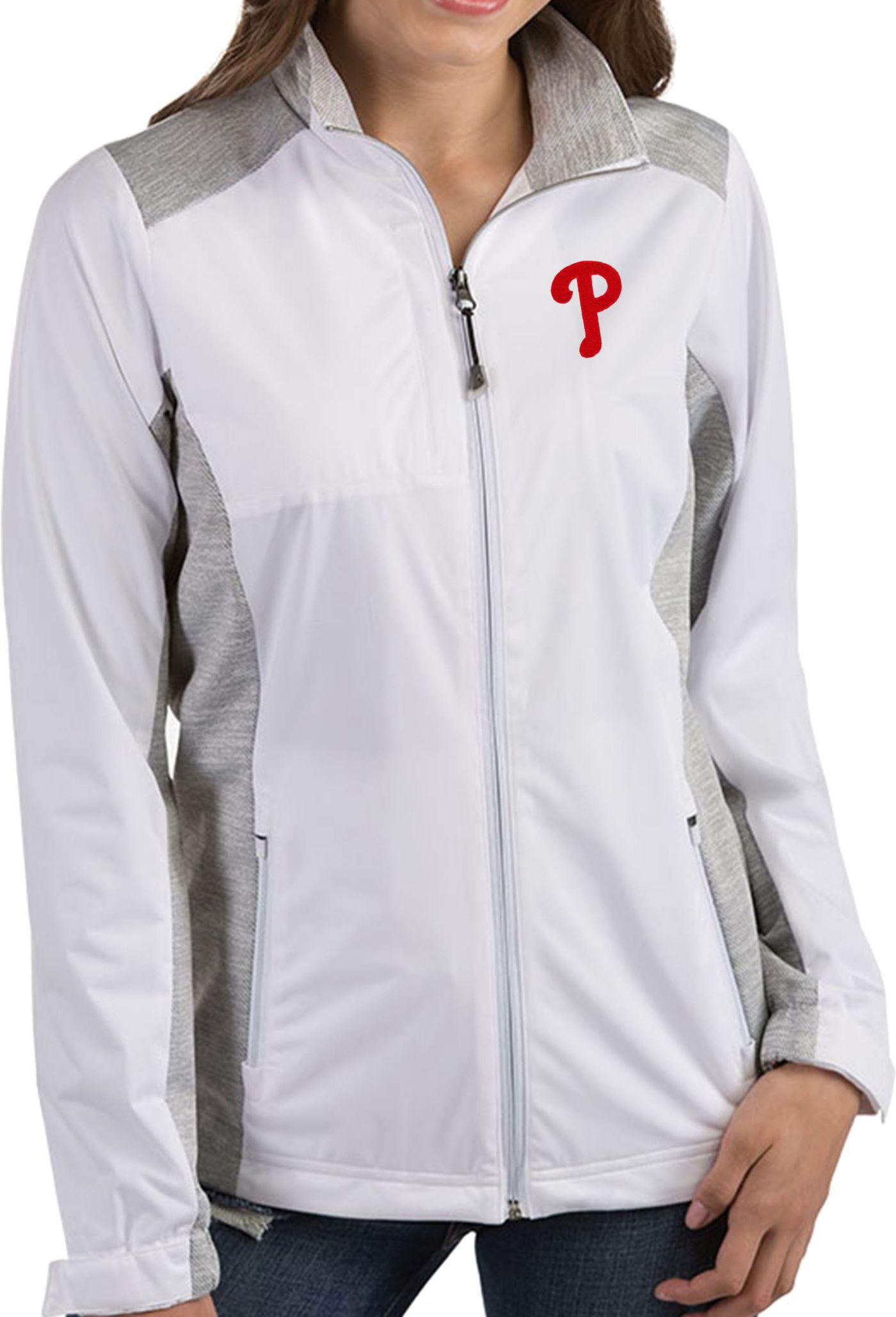 Antigua Women's Philadelphia Phillies Revolve White Full-Zip Jacket