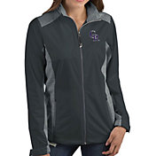 Antigua Women's Colorado Rockies Revolve Grey Full-Zip Jacket