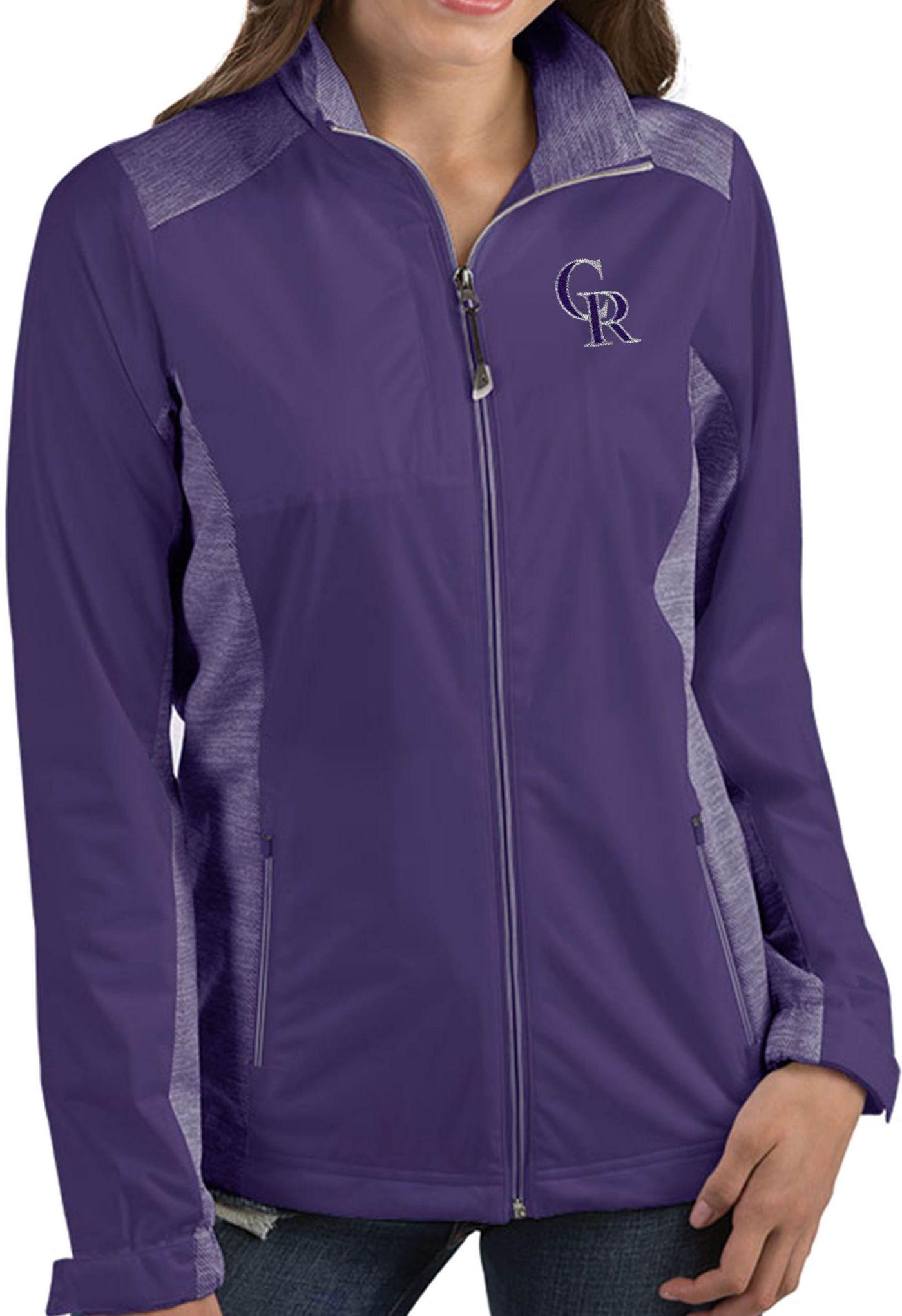 Antigua Women's Colorado Rockies Revolve Purple Full-Zip Jacket