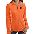 Antigua Women's Baltimore Orioles Revolve Orange Full-Zip Jacket