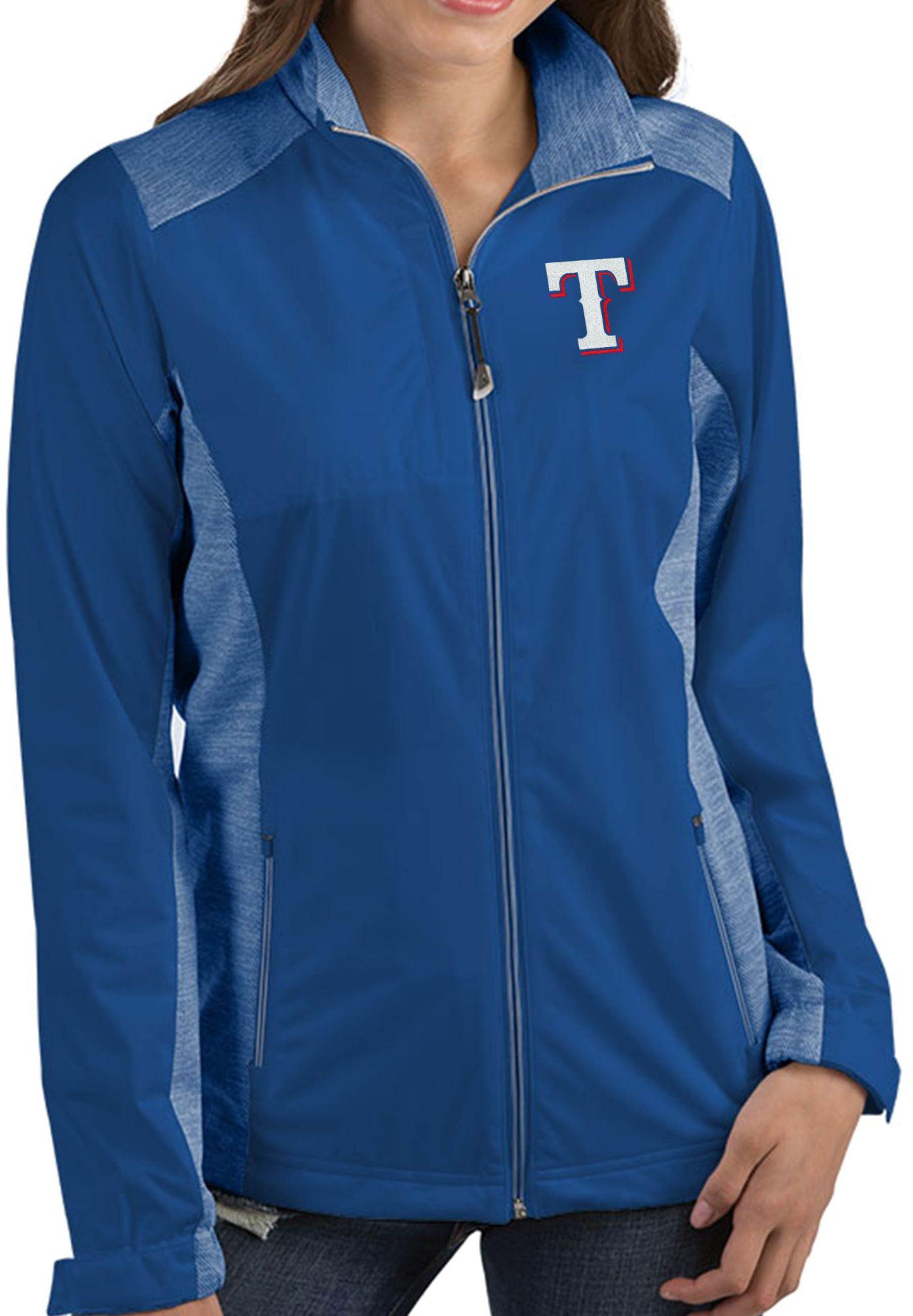 Antigua Women's Texas Rangers Revolve Royal Full-Zip Jacket