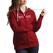 Antigua Women's 2018 World Series Boston Red Sox Red Victory Full-Zip Sweatshirt