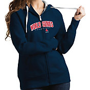 Antigua Women's 2018 World Series Champions Boston Red Sox Navy Victory Full-Zip Hoodie