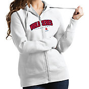 Antigua Women's 2018 World Series Champions Boston Red Sox White Victory Full-Zip Hoodie