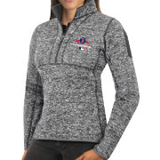 Antigua Women's 2018 World Series Champions Boston Red Sox Grey Fortune Half-Zip Pullover