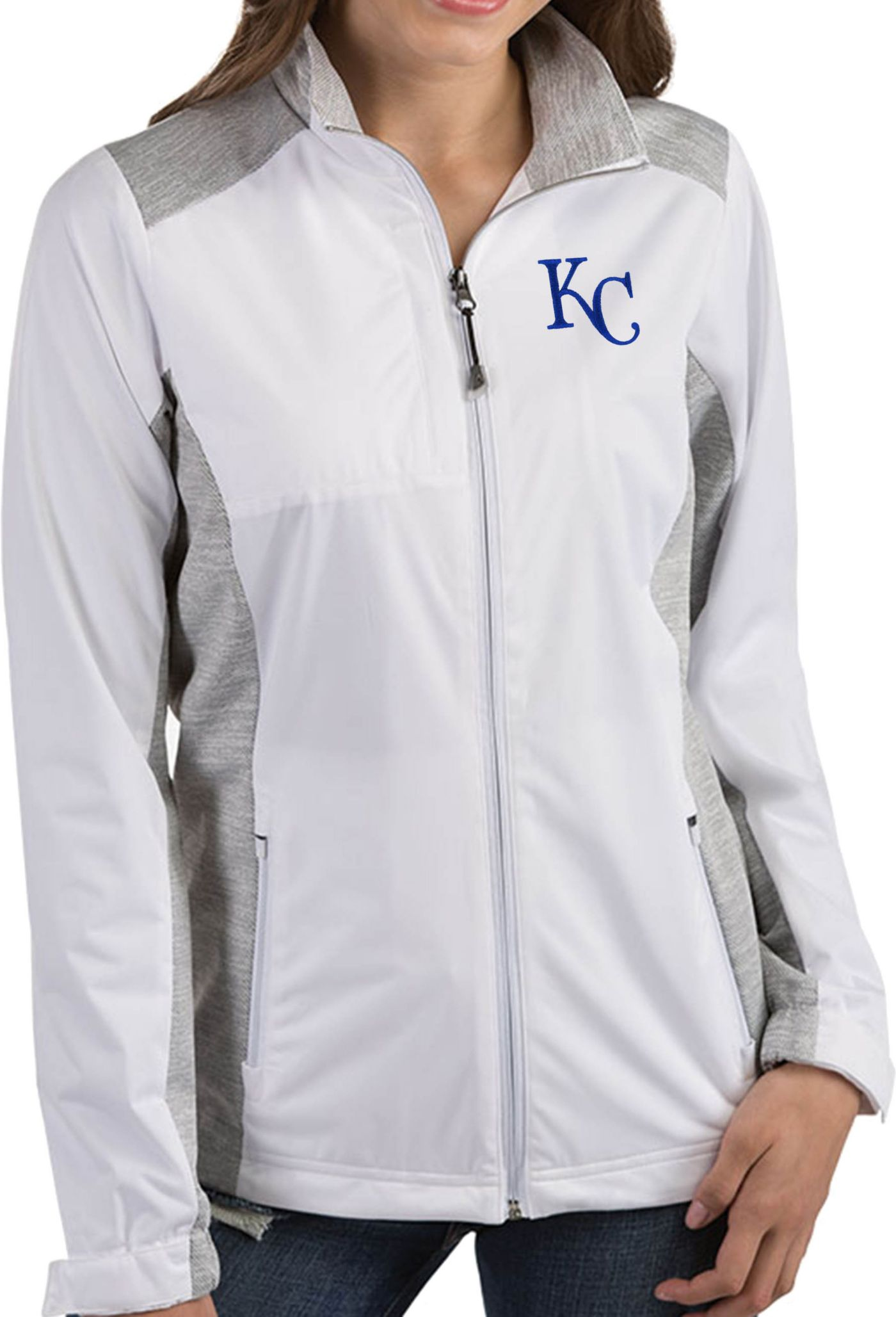 Antigua Women's Kansas City Royals Revolve White Full-Zip Jacket
