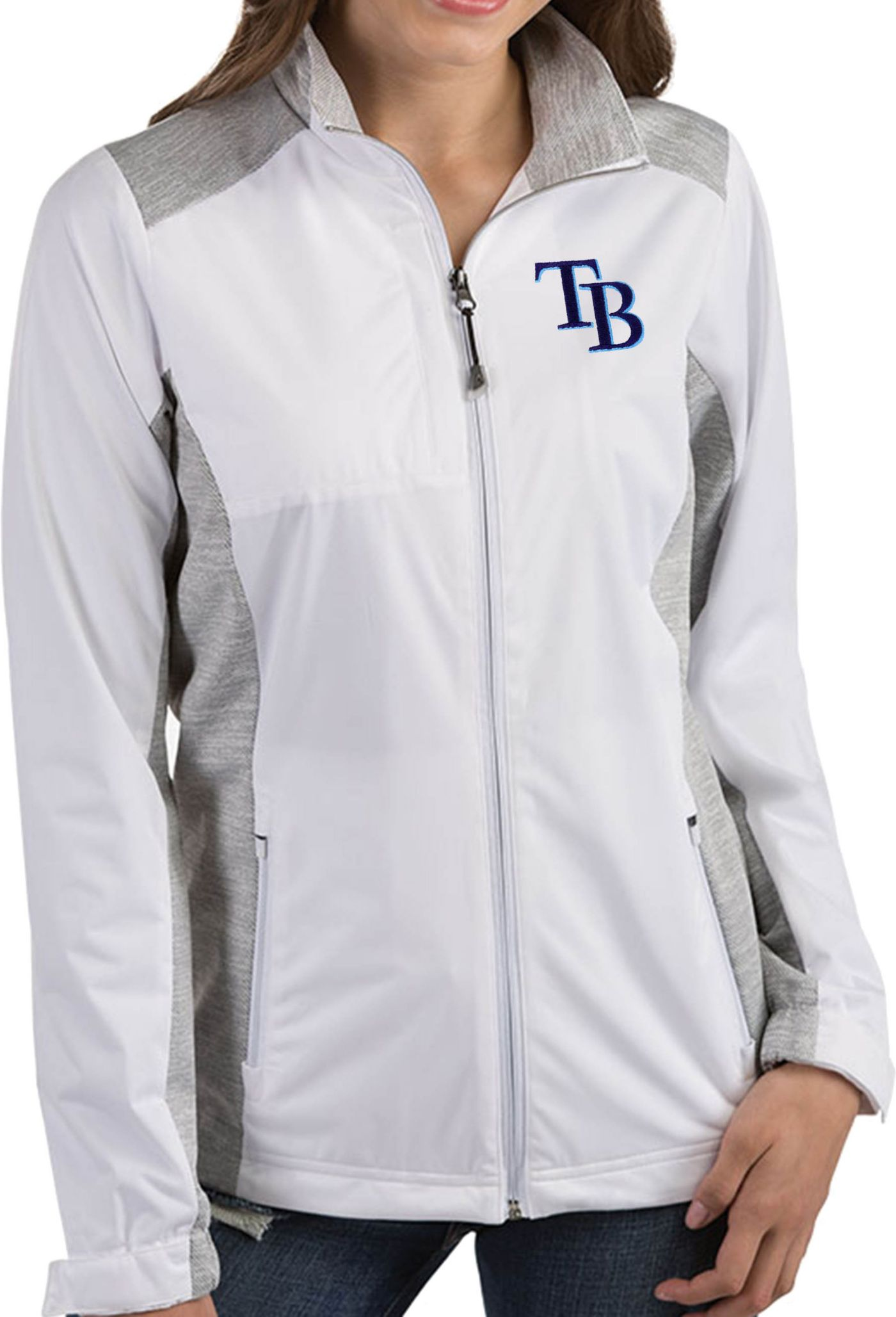 Antigua Women's Tampa Bay Rays Revolve White Full-Zip Jacket