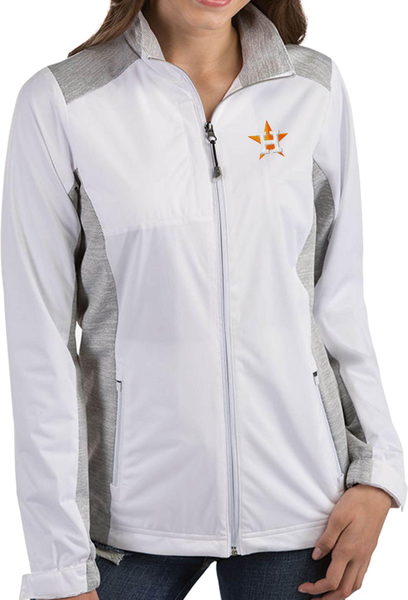 Antigua Women's Houston Astros Revolve White Full-Zip Jacket