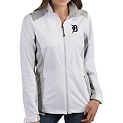 Antigua Women's Detroit Tigers Revolve White Full-Zip Jacket