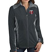 Antigua Women's Minnesota Twins Revolve Grey Full-Zip Jacket