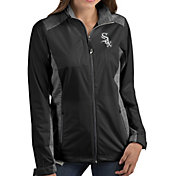 Antigua Women's Chicago White Sox Revolve Black Full-Zip Jacket