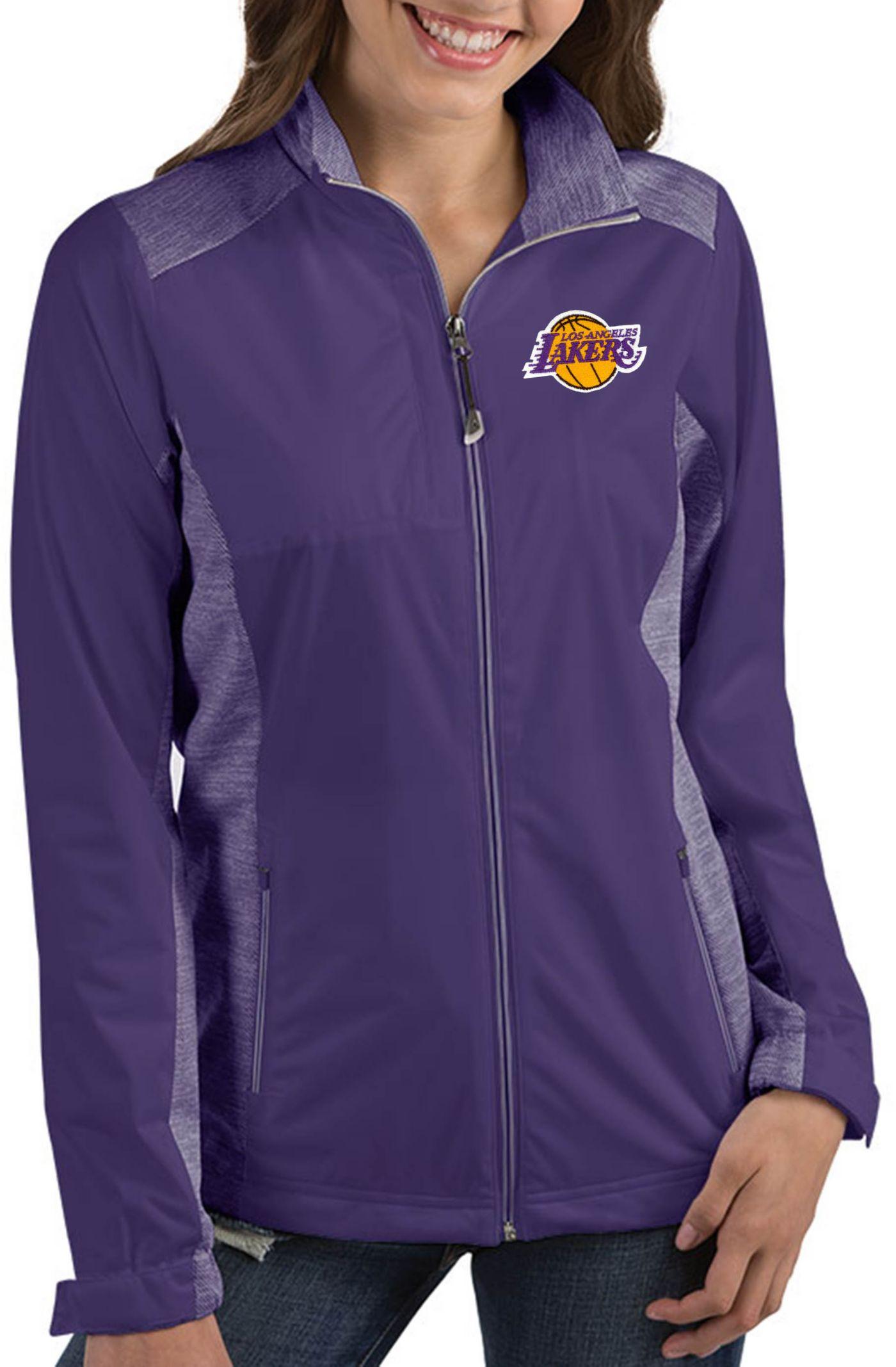 Antigua Women's Los Angeles Lakers Revolve Full-Zip Jacket