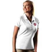 Antigua Women's Detroit Pistons Xtra-Lite White Pique Performance Polo