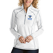Antigua Women's 2018 NBA Champions Golden State Warriors Tempo White Quarter-Zip Pullover