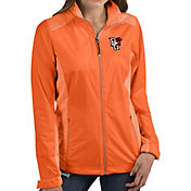Antigua Women's Bowling Green Falcons Orange Revolve Full-Zip Jacket