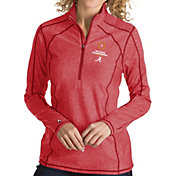 Antigua Women's 2018-19 National Championship Bound Alabama Crimson Tide Crimson Tempo Half-Zip Pullover