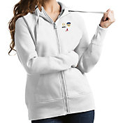 Antigua Women's 2018 Capital One Orange Bowl Bound Alabama Crimson Tide Victory Full-Zip White Hoodie