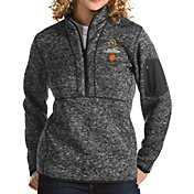 Antigua Women's 2018-19 National Championship Bound Clemson Tigers Grey Fortune Pullover Jacket