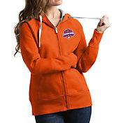 Antigua Women's 2018 National Champions Clemson Tigers Orange Victory Full-Zip Hoodie