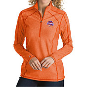 Antigua Women's 2018 National Champions Clemson Tigers Orange Tempo Half-Zip Pullover