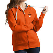 Antigua Women's 2018-19 National Championship Bound Clemson Tigers Victory Full-Zip White Hoodie