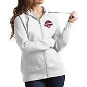 Antigua Women's 2018 National Champions Clemson Tigers Victory Full-Zip White Hoodie