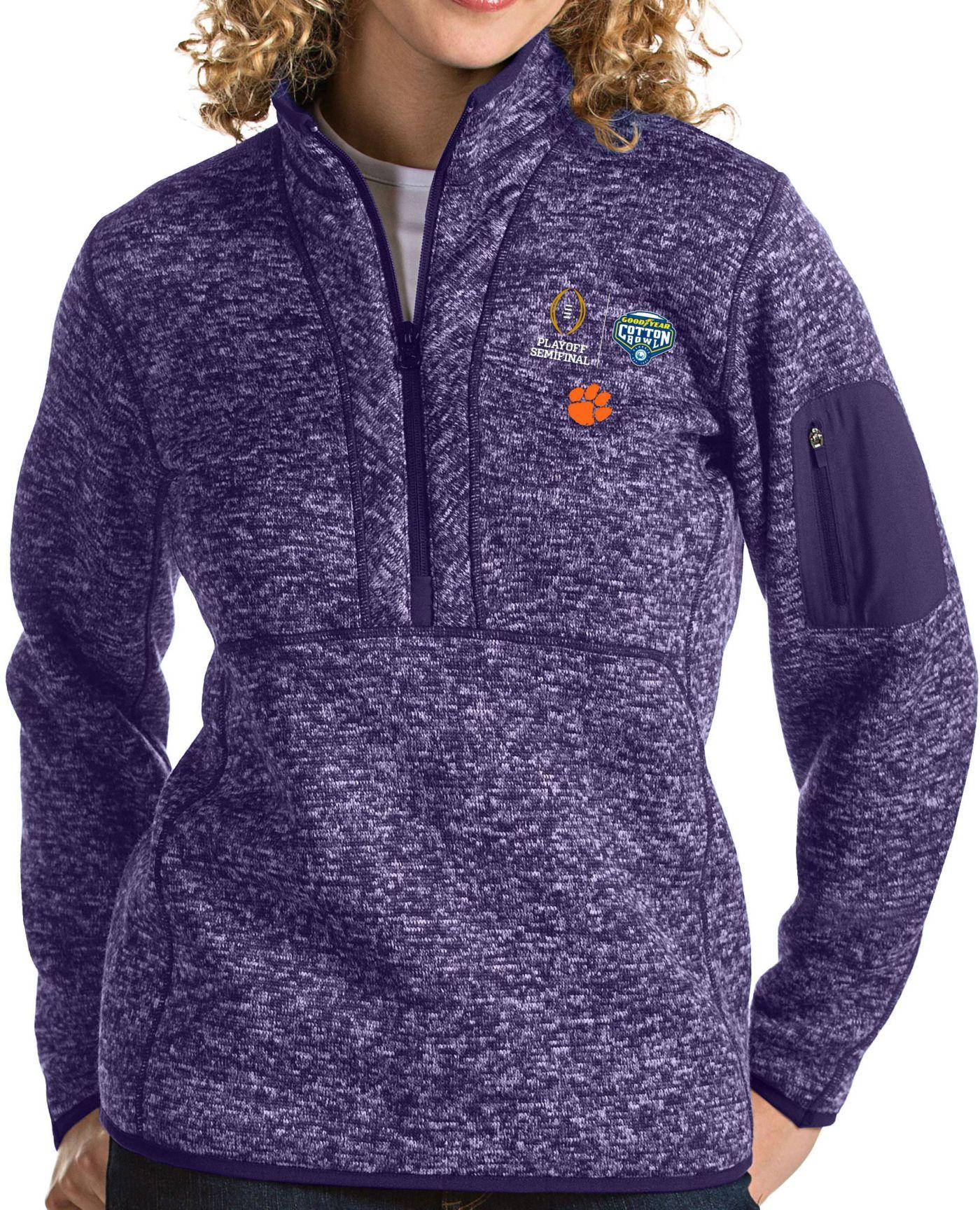 Antigua Women's 2018 Goodyear Cotton Bowl Bound Clemson Tigers Regalia Fortune Pullover Jacket