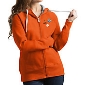 Antigua Women's 2018 Goodyear Cotton Bowl Bound Clemson Tigers Orange Victory Full-Zip Hoodie