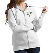 Antigua Women's 2018 Goodyear Cotton Bowl Bound Clemson Tigers White Victory Full-Zip Hoodie
