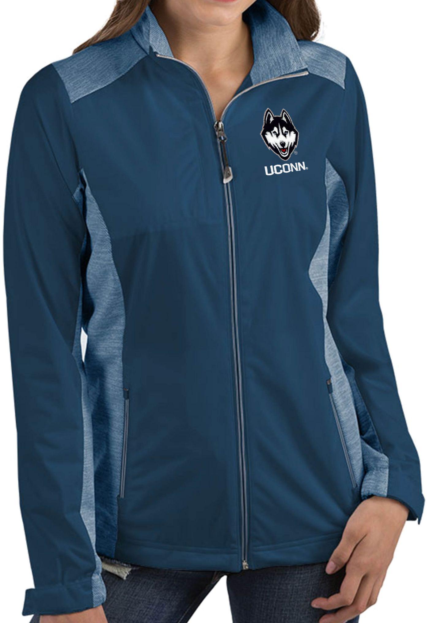 Antigua Women's UConn Huskies Blue Revolve Full-Zip Jacket