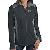Antigua Women's Georgia Tech Yellow Jackets Grey Revolve Full-Zip Jacket