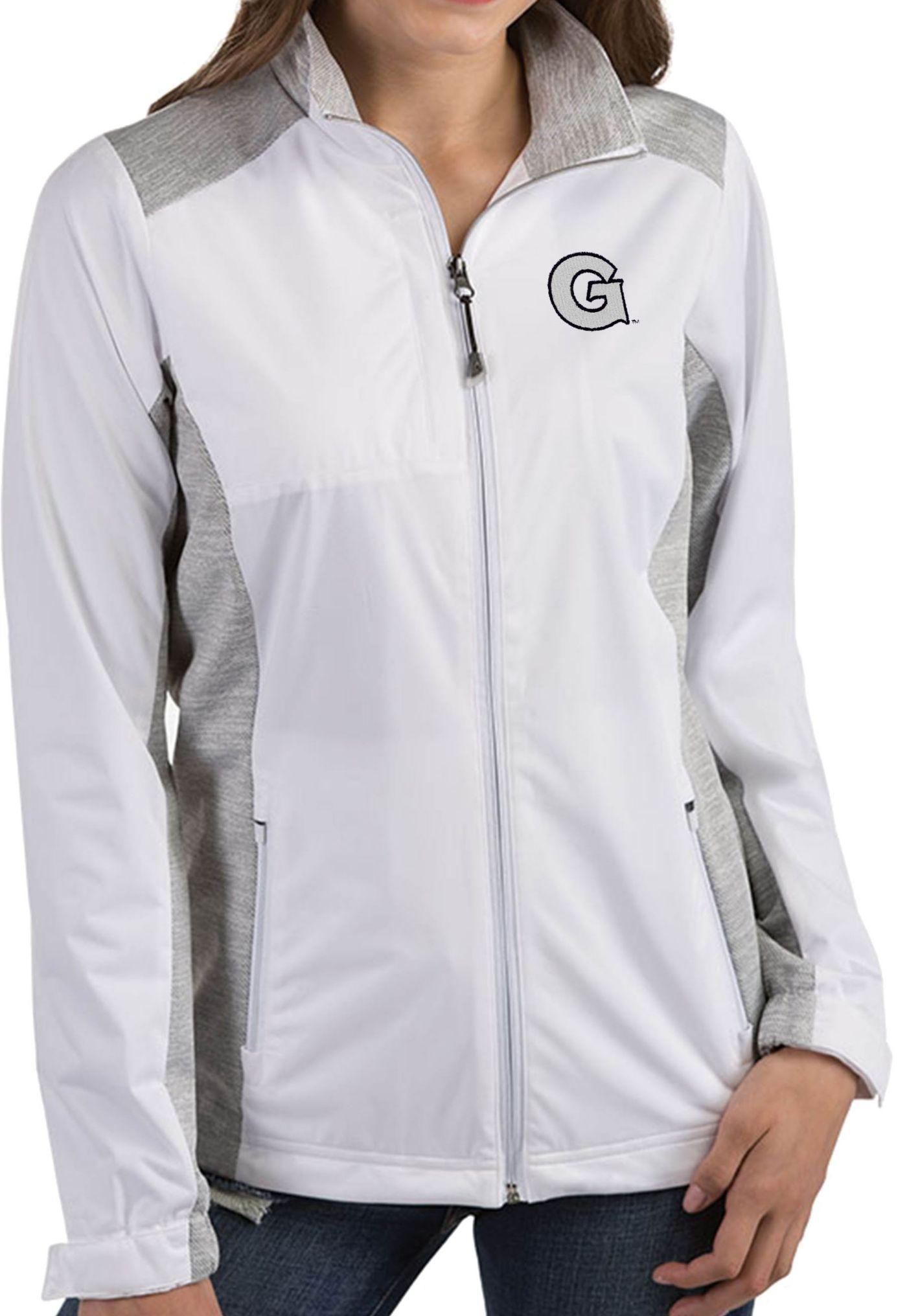 Antigua Women's Georgetown Hoyas Revolve Full-Zip White Jacket
