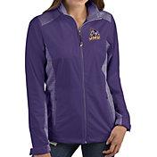 Antigua Women's James Madison Dukes Purple Revolve Full-Zip Jacket