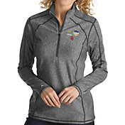 Antigua Women's 2018 Capital One Orange Bowl Bound Oklahoma Sooners Grey Tempo Half-Zip Pullover