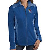 Antigua Women's Kansas Jayhawks Blue Revolve Full-Zip Jacket